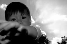 Baby in the sky B&W