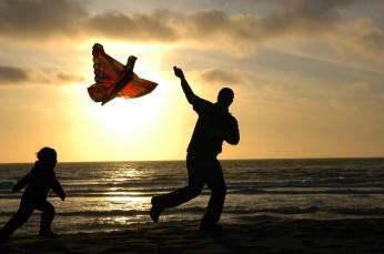 Ryan and D with the kite, Trinidad beach