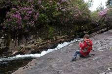 D fishing at falls, Glengarriff hiking