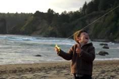 D with the kite, Trinidad beach