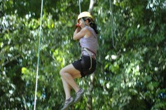 Jeanie doing 'Drop of Death,' or whatever it was called, Titi Canopy