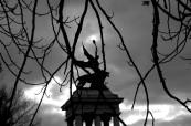 winged figure on Kossuth mausoleum