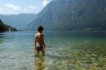 D swimming, Lake Bohinj