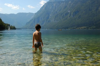 D swimming, Lake Bohinj