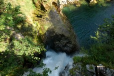 falls at end of Vintgar Gorge