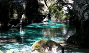 sunlight on river, Mostnica