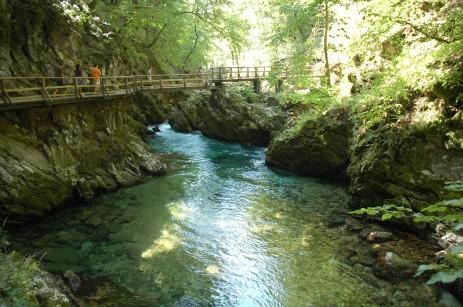 walkways at vintgar gorge