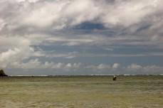 fisherman on reef, Anini 2