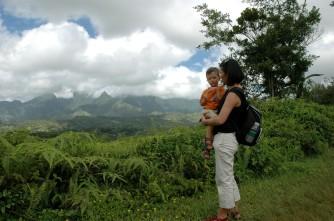 rest stop, Kuilau ridge trail