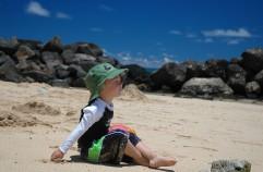 at Poipu beach