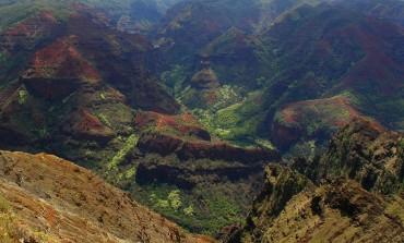 Waimea canyon, on the way up