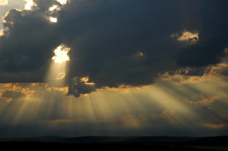 clouds and sunrays