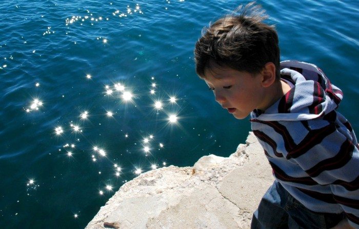 Sunlight on water, Krk, Croatia