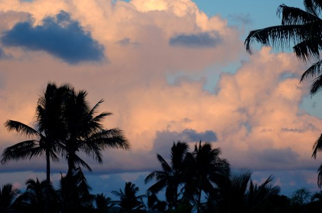 evening sky from terrace, Poipu