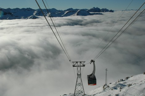 gondola to summit, Campitello