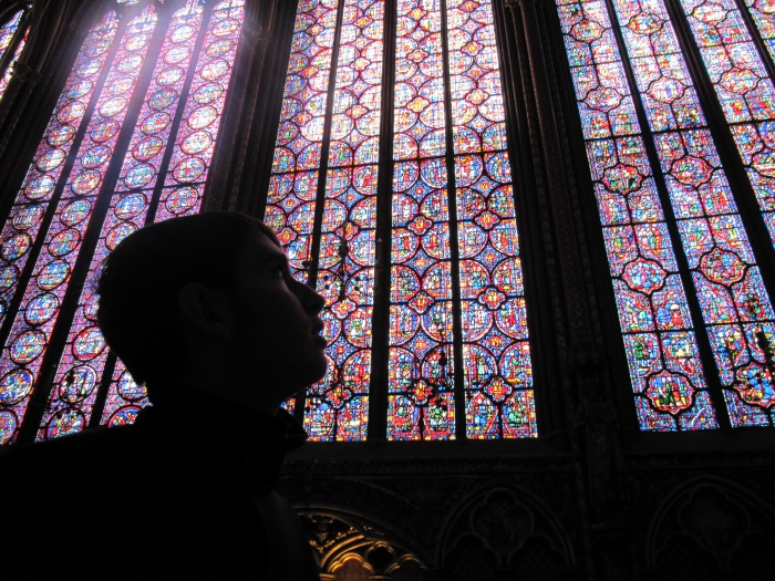 Profile and stained glass