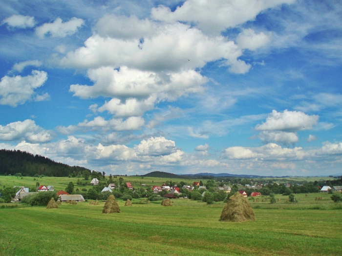 Fields and clouds, Poland