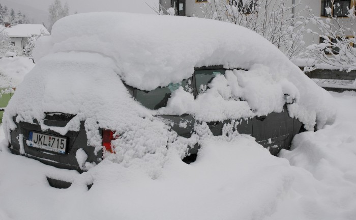 our car waiting to be dug out