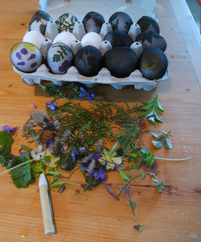 eggs covered and raw ingredients