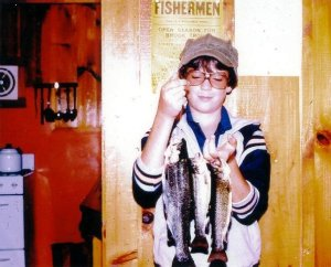 A trio of trout at Back Lake, NH. Yes, I'm a geek.