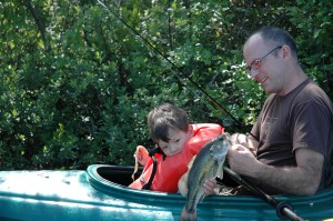 Kayaking for largemouth bass