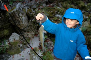 Catch-and-release rainbow trout, Austria