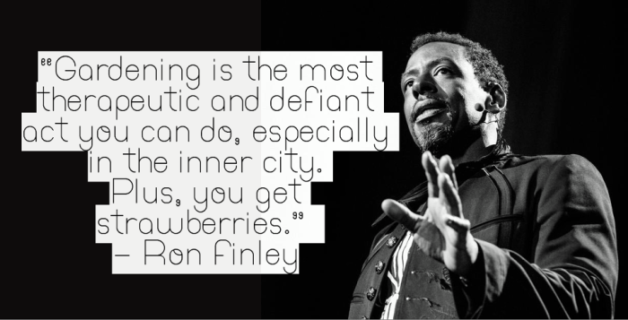 Ron Finley at his TED talk