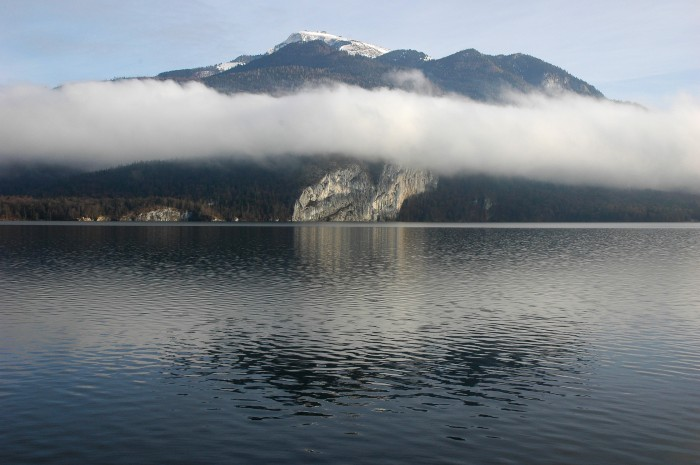 cliffs with fog, Wolfgang See