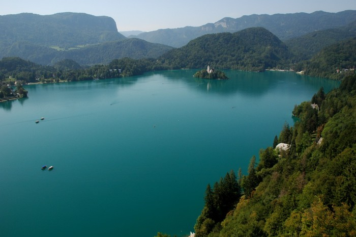 Lake Bled viewed from the castle