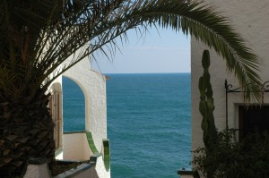 palm and sea, sitges flat