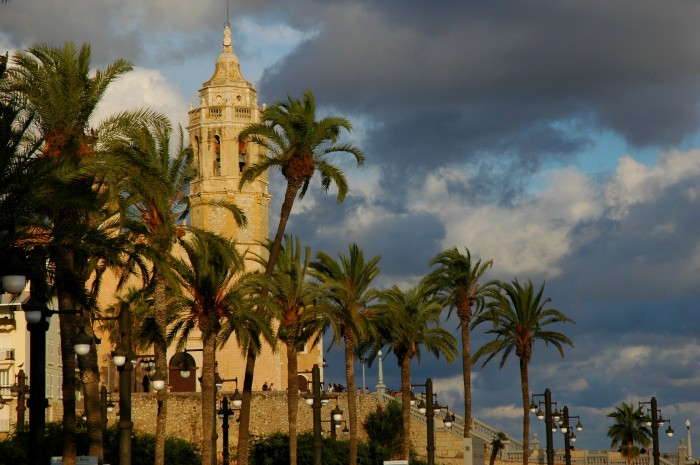 evening church, Sitges