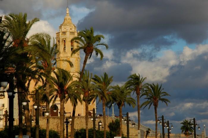 evening church, Sitges
