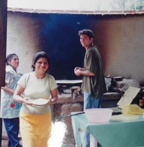 Trying my hand at tortilla making in a small village near Oaxaca, Mexico