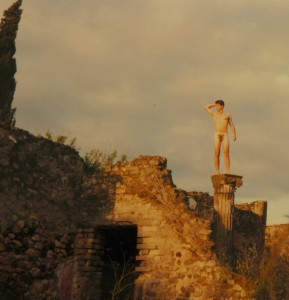Getting into the local culture. Ok, I was 19 years old, we were at Pompeii, and it seemed like a good idea at the time. I've censored the naughty bits- this is a family blog, after all.