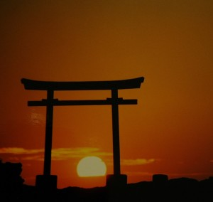 Torii at Shinto shrine, Shimoda, Japan