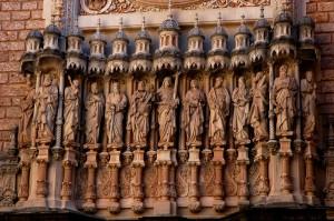 Detail of basilica facade
