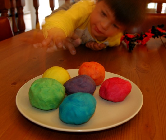 G with play dough