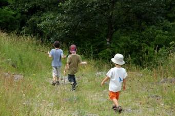 boys hiking