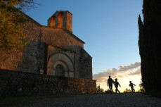 church and family with sunset2