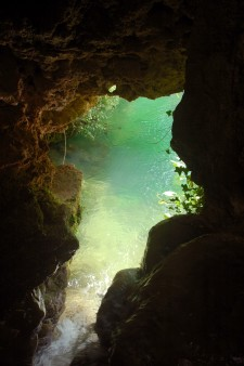 pool through cave