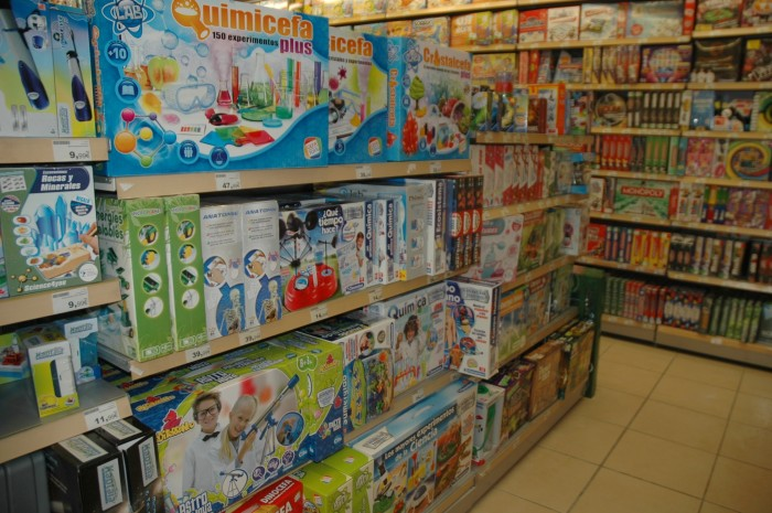 The 'educational section' of the shop