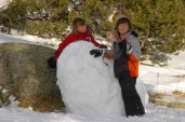 boys with giant snowball