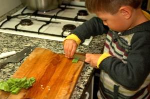 G chopping broad beans