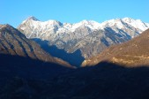 snowy peaks from mirador, chia